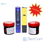 Набор для гидропоники pH метр и солемер с готовыми калибровочными растворами