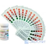 HACHI Тест полоски на активный Хлор, свободный Хлор, pH, жесткость, общую щелочность (50 измерений)