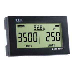 LDM-100R Двухканальный кондуктометр-солемер монитор уровня TDS/EC воды с двумя датчиками