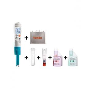 pH метр testo 206 pH1 в комплекте с кейсом и буферными растворами