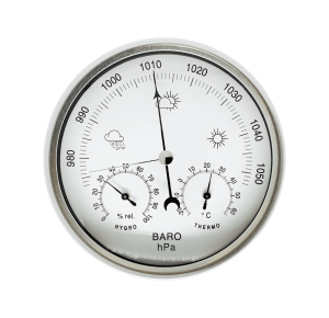 AW007 Механический барометр с термометром и психрометром