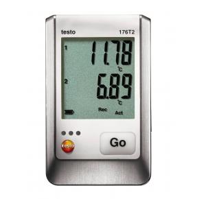 Testo 176 T2 2-х канальный логгер данных температуры с разъемами для высокоточного внешнего зонда  (Pt100)