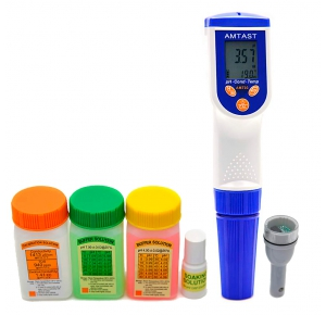 AMT03 Прибор для измерения pH, EC, TDS, Salt, Temp качества воды (без ОВП электрода)
