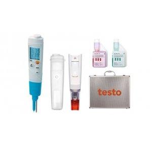 pH метр Testo 206 pH2 с электродом для измерения в полутвердых средах в комплекте с кейсом и буферными растворами