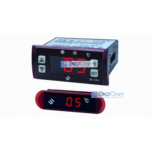 Контроллер температуры SF-214 с дополнительной ЖК панелью и с 2-мя внешними датчиками