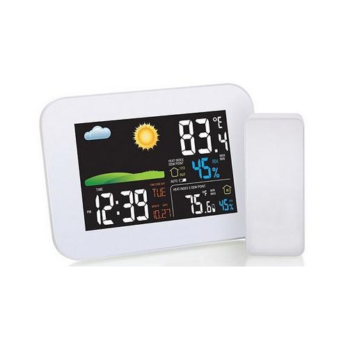 AW005 Термометр метео станция с цветным дисплеем и беспроводным датчиком