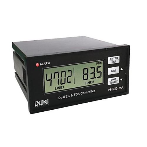 Двух линейный HM Digital PSC-54 (PS-54D-mA) монитор уровня TDS/EC воды с токовым выходом