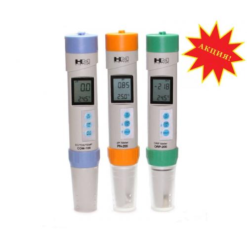 Набор профессиональных  приборов для измерения pH, ОВП,  TDS жидких сред