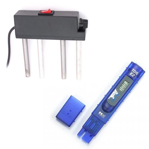 Набор демонстратора качества очистки воды - Солемер TDS5 и электролизёр