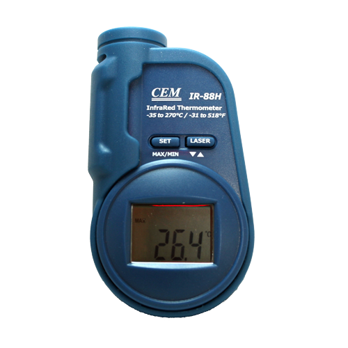 IR-88H Компактный пирометр - 30°С до +230°С   Оптическое разрешение 6:1, погрешность ±2%, разр. 0,1 °С